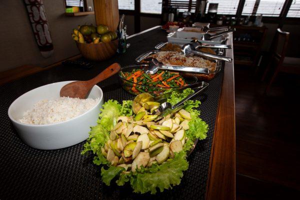 Food on Coralia Liveaboard